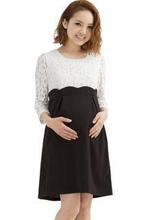 産前産後兼用 授乳口付き フォーマルワンピース •...
