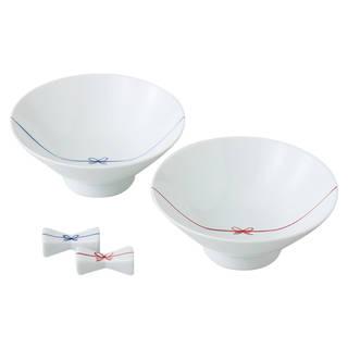 結びシリーズのご飯茶碗と箸置きのセットです。かわいい ...