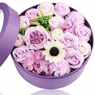Amazon|フラワーギフト ソープフラワー フレグランス シャボンフラワー バラ 薔薇 枯れないお花 の アレンジメント (121940)