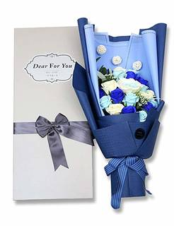 Amazon|REEMONDE 創意プレゼント バラ型 ソープフラワー 枯れない花 石鹸花束 (121942)