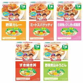 グリコ 1歳からの幼児食 アソート5個パックが麺類のベ...