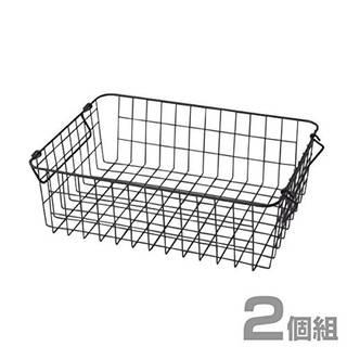 Amazon.co.jp : 山善(YAMAZEN) ワイヤーバスケット 浅型タイプ(幅37 高さ12cm) 2個組 ブラック RWB-321(BK)*2 : ホーム&キッチン (129133)