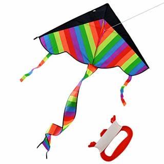 Amazon | カイト HAOUN ポリエステル製 組み立て簡単 上昇やすい 微風で揚がる凧 カラフルカイト おもちゃ 凧系が付き | 凧・カイト | おもちゃ (131373)
