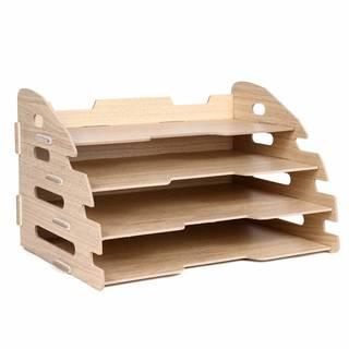 Amazon | デスク 書類 トレー A4 横 4段 2way 棚 収納 ケース 木製 整理 ラック (木目調) BEATON JAPAN | 書類チェスト・フロアケース | 文房具・オフィス用品 (131423)