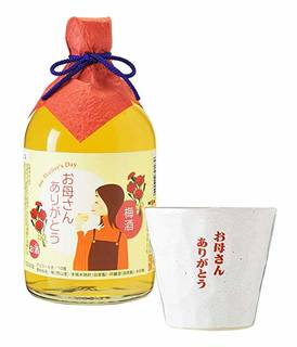 Amazon.co.jp: 母の日ギフト・誕生日プレゼント 梅酒早春・オリジナルグラスセット メッセージカード付き: 食品・飲料・お酒 (140870)