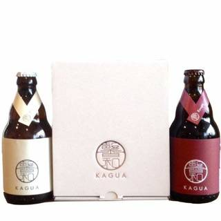 ギフトボックス クラフトビール 「馨和 KAGUA」Blanc & Rouge 2本セット  (141494)