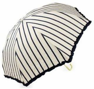 Amazon.co.jp: (ピンクトリック)pink trick 折りたたみ 傘 ストライプ柄 オフホワイト×ネイビー: 服&ファッション小物 (142890)