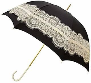 Amazon|ピンクトリック 長傘 日傘/晴雨兼用 レース&リボン ブラック 8本骨 58cm UVカット 97%以上 34772|カミオジャパン - 日傘 通販 (142891)