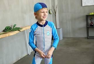 Amazon | VIVO-BINIYA 子供 水着 女の子 男の子 UPF50+ スクール水着 ラッシュガード 2点セット 長袖 帽子付き 可愛い | 水着 通販 (143701)