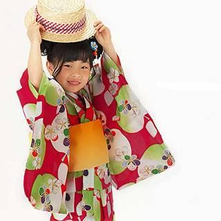 Amazon.co.jp: [ KIMONOMACHI ] こども 浴衣セット「赤色リンゴ」 150cm: 服&ファッション小物 (144674)