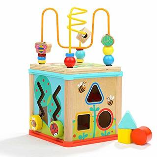 Amazon | Dreampark ビーズコースター ルーピング おもちゃ アクティビティキューブ 子ども 知育玩具 木製 赤ちゃん マルチプレイセット | ルーピング・ビーズコースター | Amazon.co.jpホーム (146087)