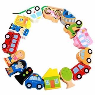 Amazon | UiiQ 紐通しおもちゃ ひもとおしセット 乗り物交通定番シリーズ (146185)