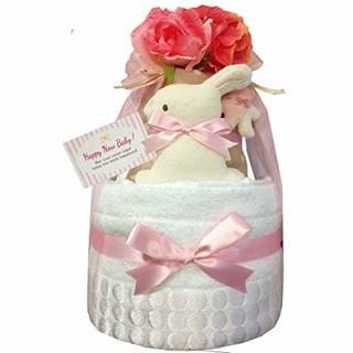 Amazon | おむつケーキ 今治タオル オーガニック 出産祝い 女の子 (149756)