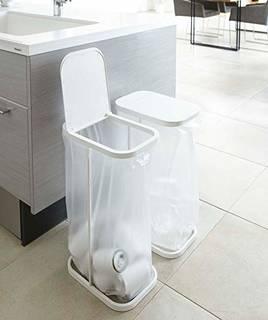 Amazon|山崎実業 ゴミ箱 分別ゴミ袋ホルダー (150451)