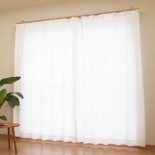 Amazon|[カーテンくれない] レースカーテンで驚異の紫外線カット率94% 保温 断熱効果 日本製 ULTRA仕様レースカーテン サイズ:(幅)100×(丈)198cm×2枚 (カーテン レース ミラー レースカーテン 遮熱 窓 目隠し 100×198)|レースカーテン オンライン通販 (151305)