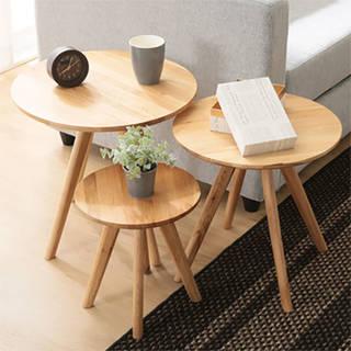 ナイトテーブル ラウンドテーブル 円形テーブル ネスト...