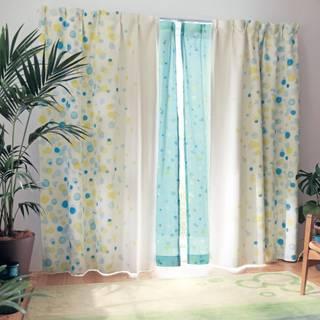 水彩タッチプリントの遮光・遮熱カーテン(ディズニー)|通販のベルメゾンネット (153503)