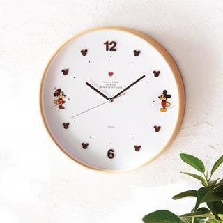 ナチュラルデザインの木枠掛け時計(ディズニー)|通販のベルメゾンネット (153506)