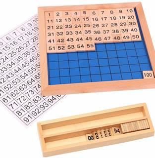 Amazon | モンテッソーリ教具 教材 100並べセット 木製 算数 学習 おもちゃ 勉強 知育玩具 幼児早期教育 おもちゃ | すうじ・図形・計算 | おもちゃ (156529)