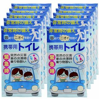 Amazon.co.jp : 高分子吸収樹脂で固める 携帯トイレ 持ち帰り袋付き 500cc 10P : Amazon.co.jpホーム (161716)