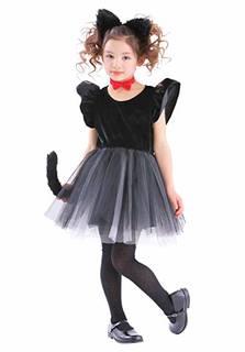 Amazon | プティシャノワール 黒猫 ねこ コスプレ キッズ 100cm 黒 | キッズコスチューム | おもちゃ (162488)