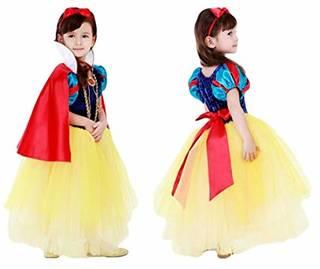 Amazon | (eones)白雪姫風 プリンセスドレススカート 5層構造 ふんわり キッズドレス マント、カチューシャステッキ 4点セット(100cm) | キッズコスチューム | おもちゃ (162510)