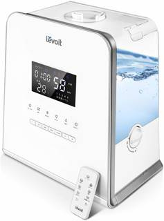 Amazon | Levoit 加湿器 5.5L大容量 温冷ミスト 超音波式 連続運転50時間 リモコン操作 ミスト5段階調節 アロマ対応 静音 省エネ ナイトライト 25~44畳 LV-550HH | Levoit | 加湿器 (164508)