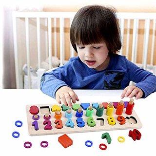 Amazon | モンテッソーリ 積み木 幼児 学習 パズル - Sendida 知育玩具 数字 パズル 型はめ 幼児 木製 1-10 おもちゃ パズル 数字 ゲーム 知育おもちゃ 学習玩具 ブロックおもちゃ 数学力アップ | 木製パズル | おもちゃ (166465)