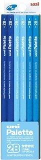 Amazon   三菱鉛筆 かきかた鉛筆 ユニパレット 2B パステルブルー 1ダース K55602B   鉛筆   文房具・オフィス用品 (169091)