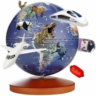 Amazon | 地球儀 子供 日本語 球径13cm 3Dで学べる 4WAY オルゴール LEDライト付き 知育玩具 ベッドサイドランプ 地勢タイプ 真珠フィルム 雰囲気が良い 防水性 先生おすすめ小学生の地球儀 新入学のお祝いに プレゼント(Blue) | 地球儀 | 文房具・オフィス用品 (171354)