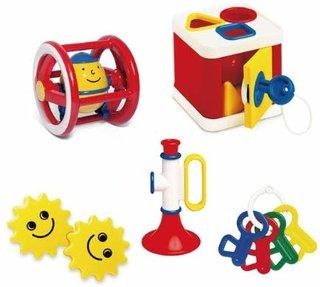 Amazon | アンビトーイ ベビーギフトセット [5種類セット] 対象年齢 0歳 | 屋内遊具 | おもちゃ (173565)