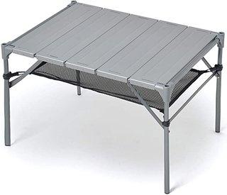 Amazon | 【新聞掲載!スポーツニッポン】 キャンプ テーブル GUAPO [日本メーカー] 耐荷重40kg 耐熱200度 折りたたみ 軽量 コンパクト アウトドアテーブル ローテーブル 高強度アルミ製 [滑り止め脚キャップ 4個 + 収納ケース付き] | GUAPO | テーブル (174071)