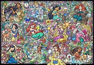 Amazon | 1000ピース ジグソーパズル ディズニープリンセス コレクション ステンドグラス 【ステンドアート】(51.2x73.7cm) | ジグソーパズル | おもちゃ (174552)