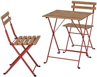 Amazon|IKEA (イケア) TARNO テルノー テーブル&チェア2脚 屋外用 レッド, ライトブラウンステイン 493.124.15|ダイニングセット オンライン通販 (174767)