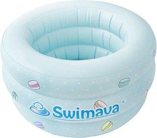 Amazon.co.jp: Swimava 【日本正規品60日保証】スイマーバ ふわふわベビーバス マカロンバス SW150GN-P: ベビー&マタニティ (174983)
