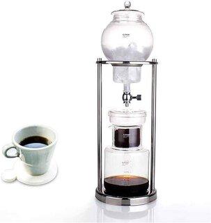 Amazon|TeFuAnAn 600ml グラス アイスコーヒー メーカー ドリッパー ポット ウォータードリッパー 水出し 耐熱ガラス コーヒーサーバー コーヒーフィルター ウォータードリップ エスプレッソ手作り 600ml-1000ml 6-8人|ウォータードリッパー オンライン通販 (176550)