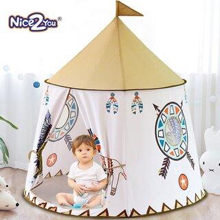 Amazon | Nice2you インディアン子供テント 部落キャッスル遊具部屋 おもちゃ 折り畳み式 玩具収納 秘密基地 知育玩具 プレゼント キッズテント | キッズテント | おもちゃ (177193)