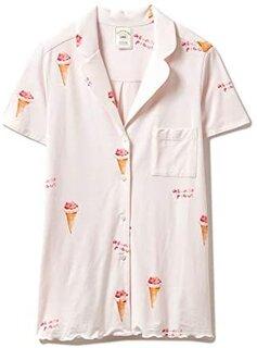 Amazon | gelato pique ジェラートピケ レディース アイスクリームモチーフシャツ pwct202833/2020春夏 ジェラピケ ルームウェア 部屋着 パジャマ 誕生日 ギフト プレゼント ラッピング icecream PINK(ピンク) FREE | パジャマ・ルームウェアセット 通販 (177692)
