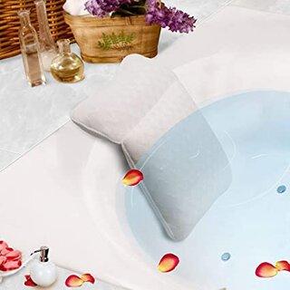 Amazon | PINGKO お風呂 枕 バスピロー バスタブ メッシュ 吸盤 滑り止め 速乾 防水 抗菌 洗濯可 ホワイト | PINGKO | バスピロー 通販 (177945)