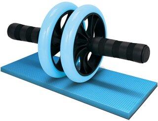 Amazon | LICLI 腹筋ローラー 「簡単 筋トレ コンパクト 健康器具 」「取扱説明書 製品保証あり」「静音 高耐久性 膝クッション付き」「 お腹 アブローラー 」 (ライトブルー) | LICLI(リクライ) | 腹筋器具 (178050)