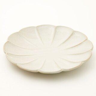 丸型大皿 しのぎ 白釉通販   ニトリネット【公式】 家具・インテリア通販 (178527)