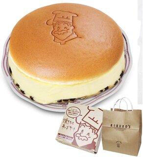 Amazon | りくろーおじさんの焼きたてチーズケーキ<6号サイズ/直径18cm> 紙袋付き | ソラーラ(solala) | ケーキ・洋菓子 通販 (179717)