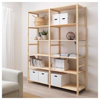 IVAR イーヴァル 2セクション/棚板 - パイン材 - IKEA (180128)