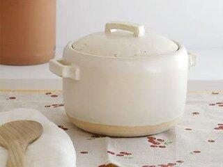 Amazon|studiom' スタジオm' スタジオエム|ブレゼ(BRAISE) 土鍋 白|ご飯炊き鍋 土手鍋 ナベパーティー|195503【sf】|土鍋 オンライン通販 (180502)