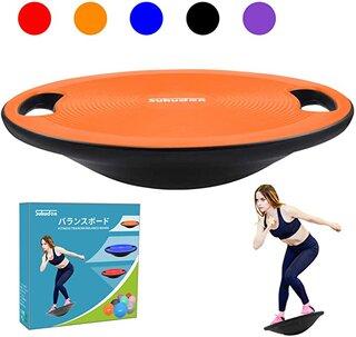 Amazon | Sukudonバランスボード 体幹 トレーニング 滑り止め 持ち運びやすい 円形 直径40cm (オレンジ) | Sukudon | スポーツ&アウトドア (180762)