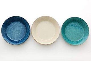Amazon|アイトー(Aito) カレー皿 ブルー・ホワイト・グリーン 20.8×4.3cm ナチュラルカラーカレー&パスタ皿(3色組)|カレー・パスタ皿 オンライン通販 (181389)