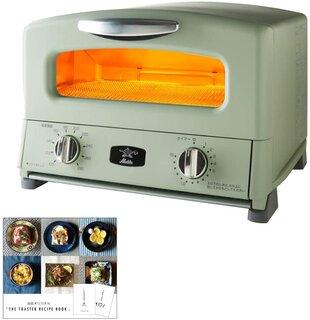 Amazon | アラジン グリル & トースター AGT-G13AG + THE TOASTER RECIPE BOOK トースターレシピブック 2点セット (グリーン, 4枚焼き) | モノギャラリー | オーブントースター 通販 (181405)