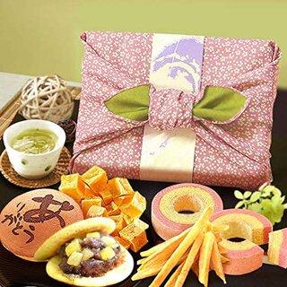 Amazon | おいもや 風呂敷包みギフトセット 和菓子 お菓子 詰め合わせ 5種セット | おいもや | 和菓子ギフト 通販 (183785)