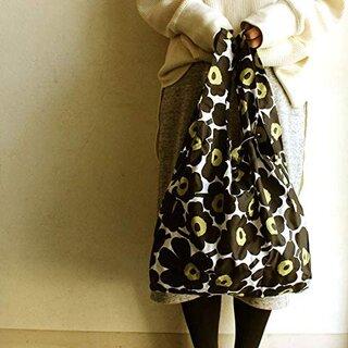 Amazon   マリメッコ MARIMEKKO ウニッコ エコバッグ バッグ ナイロン トートバッグ 折りたたみ 花柄 ブラック 048852   marimekko(マリメッコ)   エコバッグ・買い物バッグ (184481)