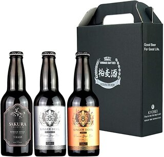 Amazon.co.jp: 【EC限定】国産最高級クラフトビールギフトセット 3種類飲み比べセット(アワード受賞歴多数のこまいぬブリュワリー&(株)KYOSEIとのコラボ商品)[330ml×3本]ホワイトエール ブラウンエール ケルシュスタイル: 食品・飲料・お酒 (186916)